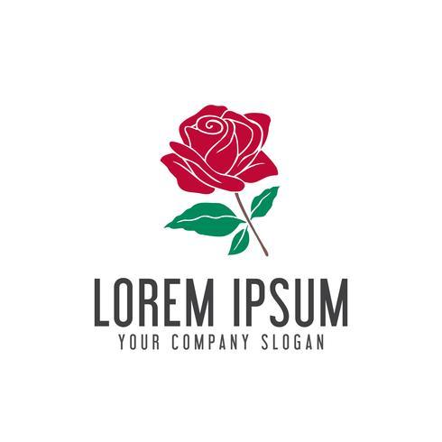 Plantilla hermosa del concepto del diseño de la plantilla del logotipo de la rosa