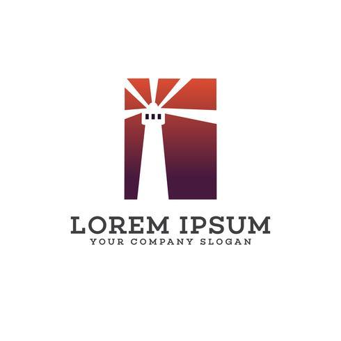 modèle de concept de conception de logo phare