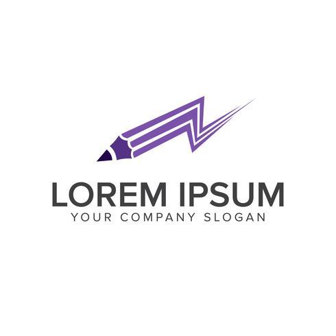 Education Pen logo design concept template vector