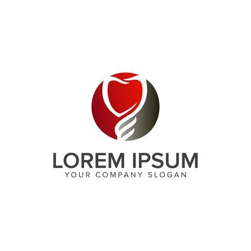 modèle de concept de conception de logo dentaire