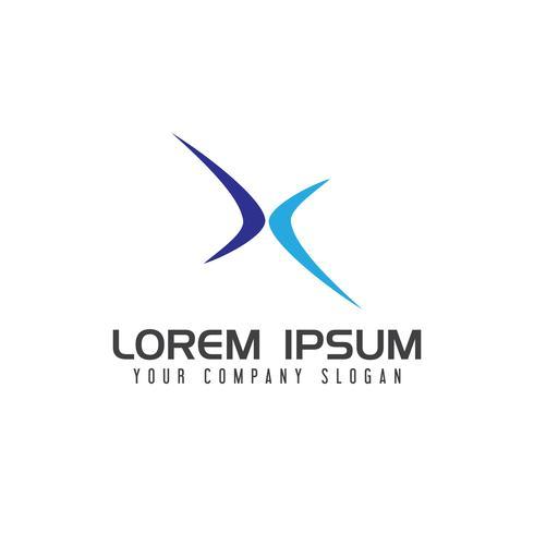 Buchstabe x Sport Logo-Design-Konzept-Vorlage
