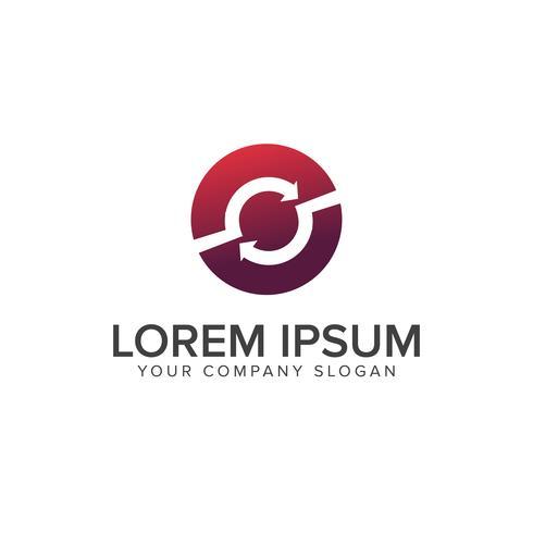 Modello di concetto di rotazione logo design