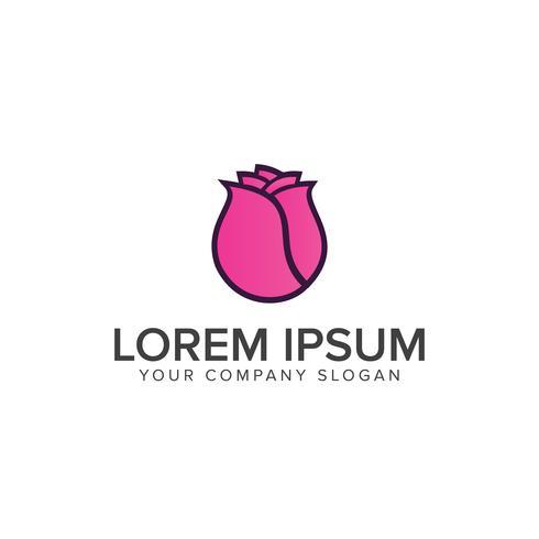 Plantilla de concepto de diseño de logo de tulipanes flor vector