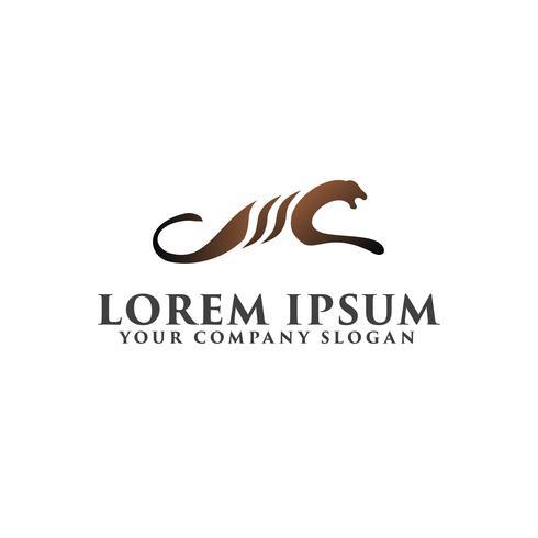 Modelo de conceito de design de logotipo de leão