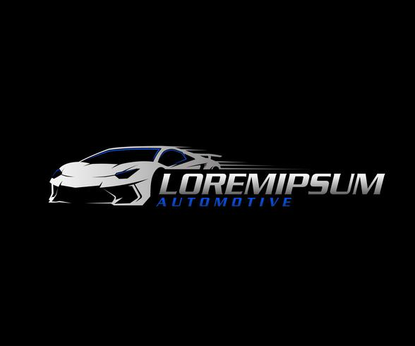 Auto logo.sport Auto-Logo-Design-Konzept-Vorlage