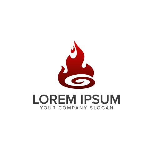 Flam logotyp mall. Olje och gaslogo vektor. Brandvektor design
