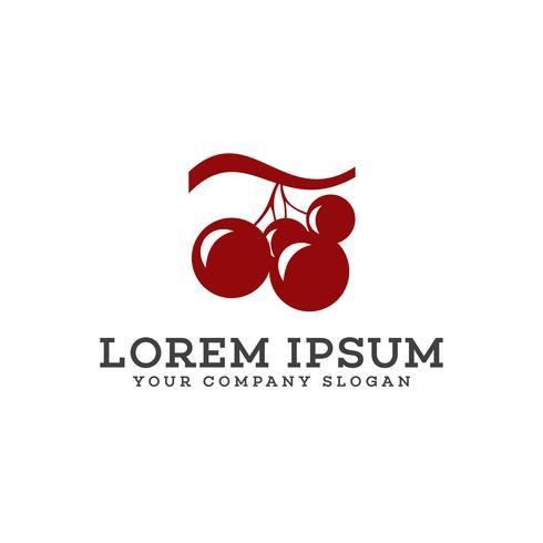 grape logo design concept template vector
