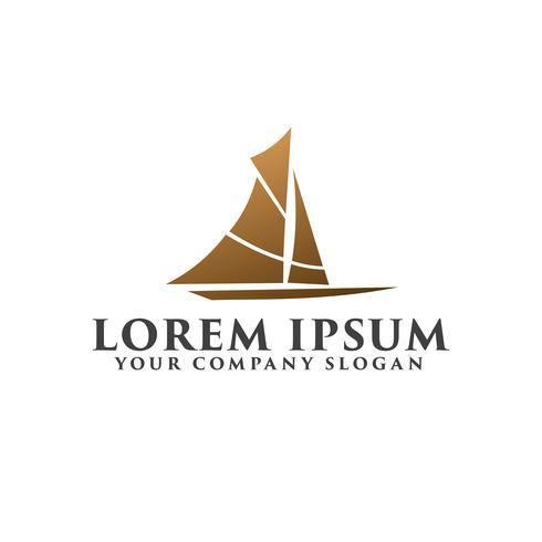 Creative Ship Concept Logo Design Mall designkoncept templa