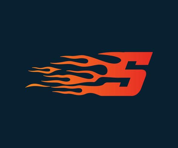 Brev S-logga. hastighet logotyp design koncept mall