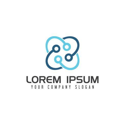 Modèle de concept de conception de logo médical santé
