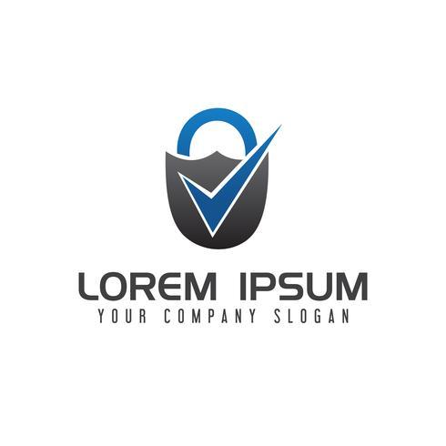 Plantilla de concepto de diseño de logotipo de marca de seguridad vector