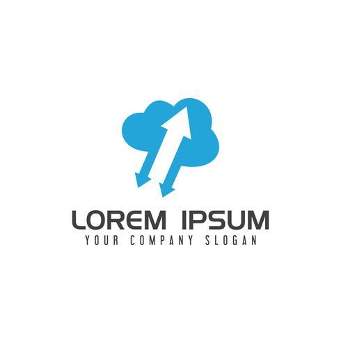 télécharger télécharger nuage logo design concept modèle