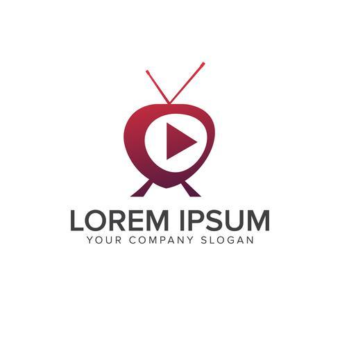 logotipo de los medios de comunicación. plantilla de concepto de diseño de logo tv multimedia