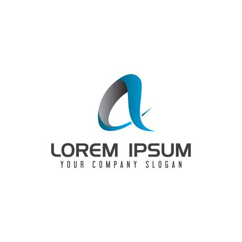 Modern brev En teknik Logo design koncept mall