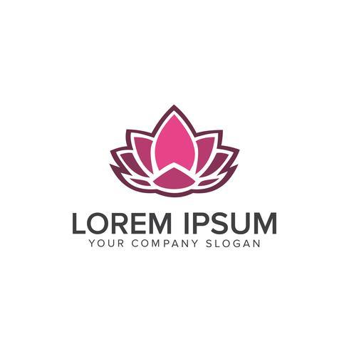 Lotus-Blumenlogo, Schönheits-Modelogo Schablonendesign