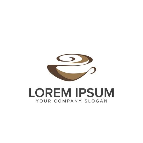 Coffee logo. Food and Drink logo design concept template vector