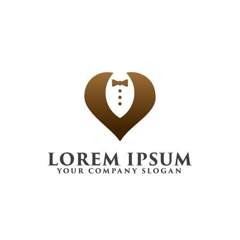 tuxedo logo design concept template