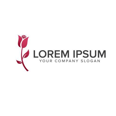 logo de la fleur. modèle de concept de beauté logo design