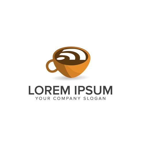 Coffee wireless logo  Food and Drink logo design concept templat