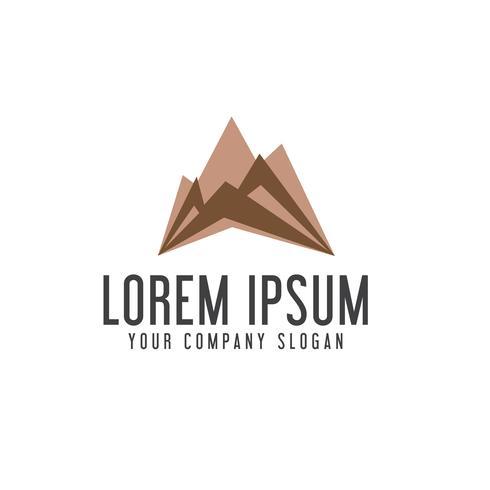 modèle de concept de design moderne montagne logo