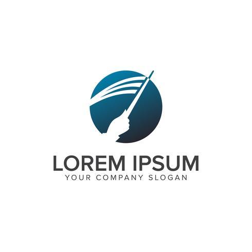 Utbildning lär logo design koncept mall