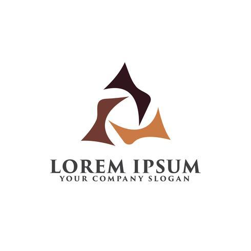 luxe driehoek abstracte logo ontwerpsjabloon concept