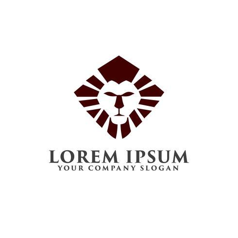 modello di concetto di lusso logo design del leone