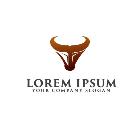 Stier-Logo. Luxus-Logo-Design-Konzept-Vorlage