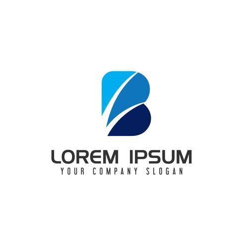 Plantilla de concepto de diseño de logotipo de letra B moderna vector