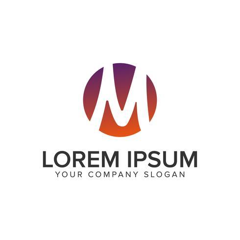 Plantilla de concepto de diseño de logotipo de letra M círculo vector