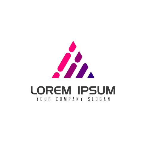 Lettre moderne Un modèle de concept de technologie Logo design