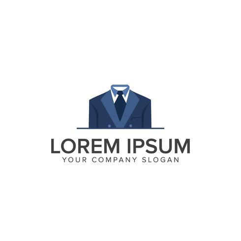 Plantilla de concepto de diseño de logotipo de ropa de hombre de negocios vector