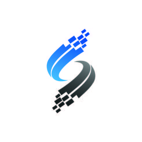 letter s logo, technology logo design concept template vector
