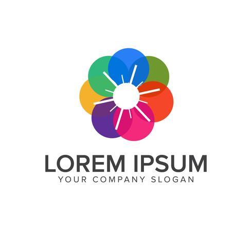 modelo de conceito de design de logotipo abstrato de mídia