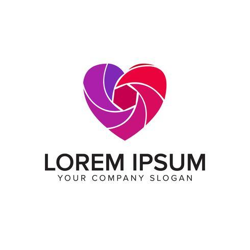 Medien lieben Logo. Fotografie-Logo-Design-Konzept-Vorlage
