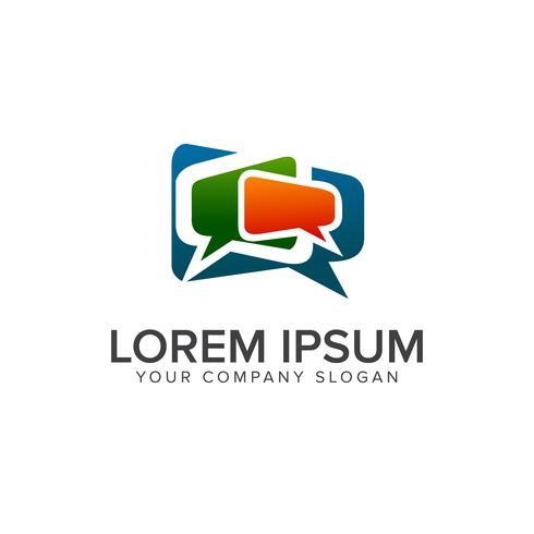 Modelo de conceito de design de logotipo de comunicação de comentários vetor