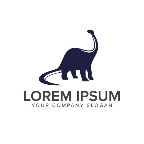 dinosaur logo design concept template vector