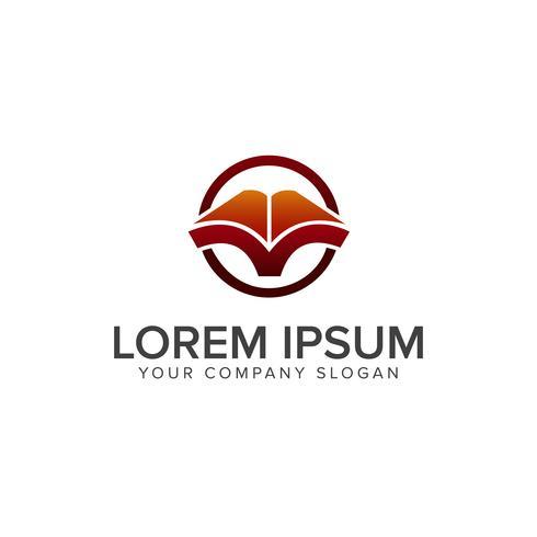 Open Book logo. Education logo design concept template