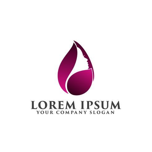 Logotipo de personas de belleza, plantilla de concepto de diseño de logotipo de belleza spa
