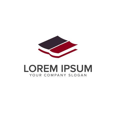Book logo Education School modelo de conceito de design