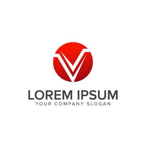 Logo moderno lettera V. modello di concetto di design