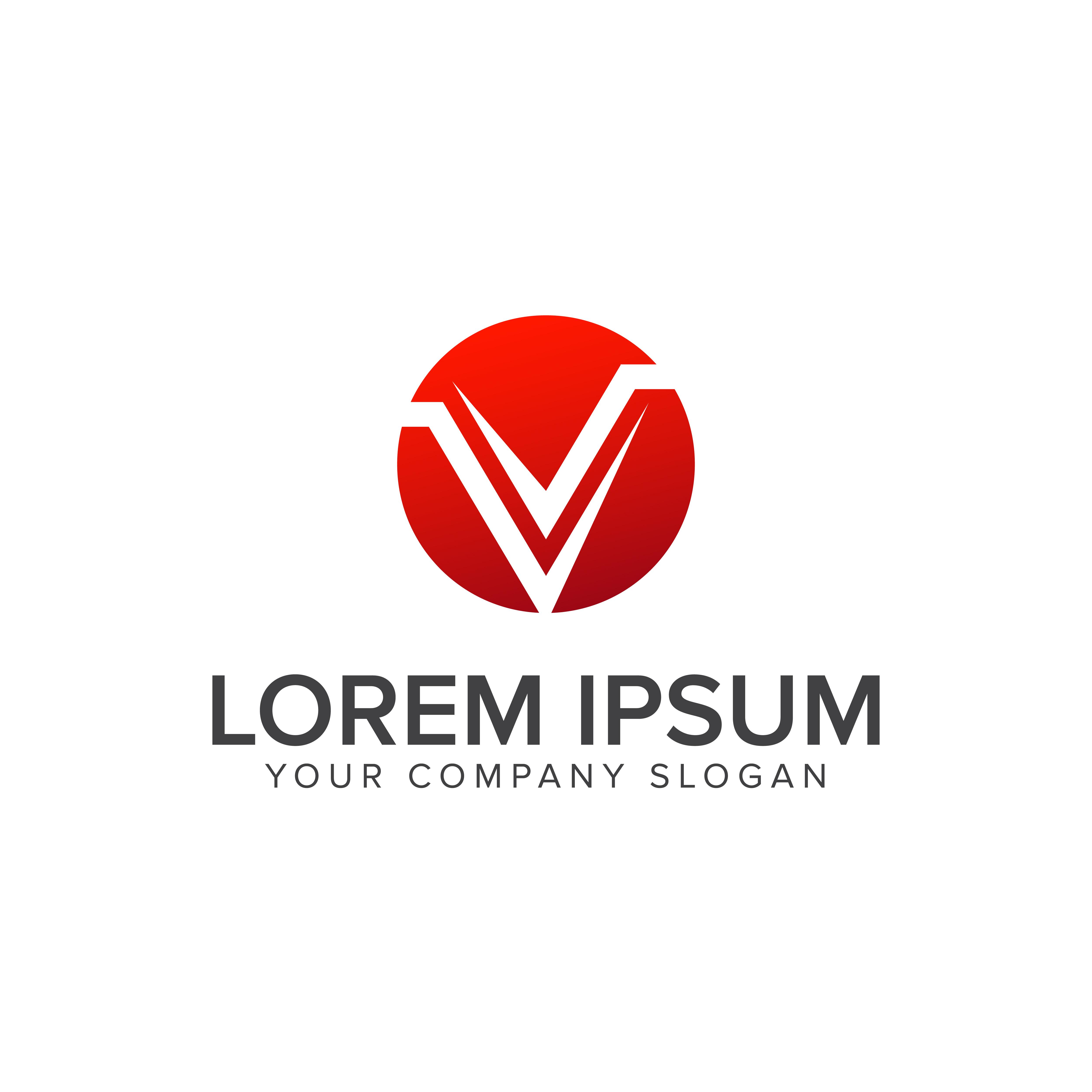 Modern Letter V Logo. Design Concept Template 611095