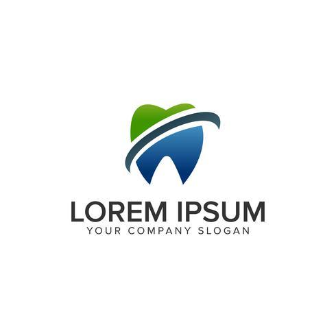 Plantilla de concepto de diseño de logotipo dental