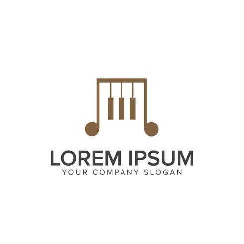 music piano logo design concept template vector