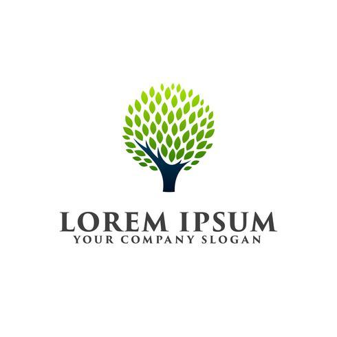 Plantilla abstracta del concepto del diseño del icono del logotipo del árbol
