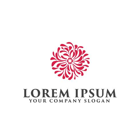 Plantilla de concepto de diseño de logotipo de decoración de flor.