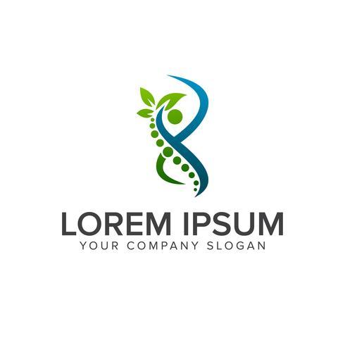 modello di concetto di progettazione di logo di assistenza sanitaria di persone