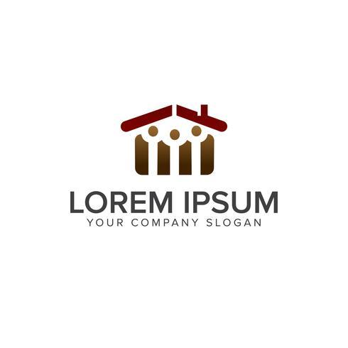 fastighetsmänniskor logotyp. Arkitektonisk konstruktion design conce