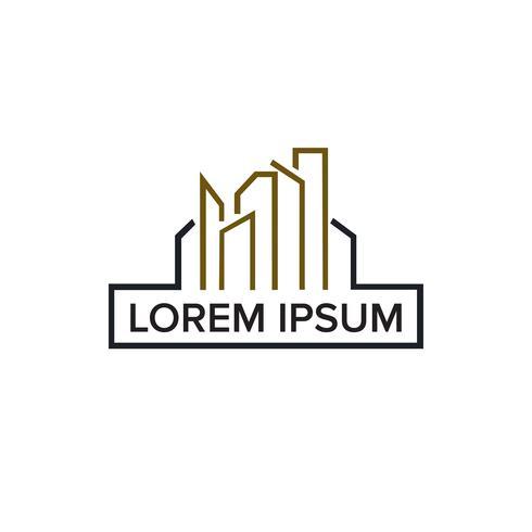 Hypothèque, architecture, construction, immobilier et logo logo desig