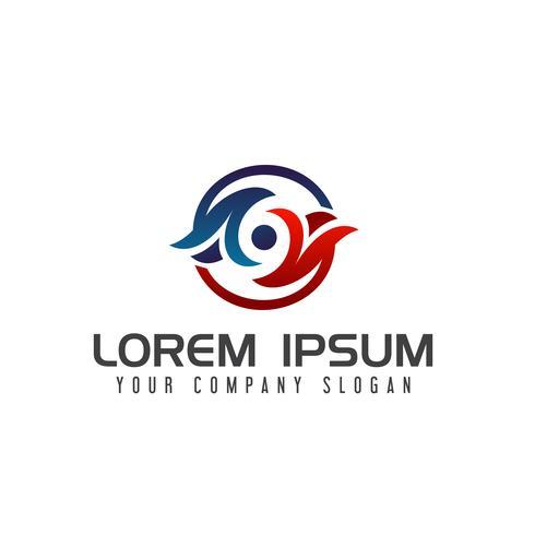 Eye technology logo design concept template